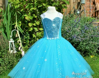 Elsa Inspired Sparkly Tutu Dress-Birthday, Party, Photo Prop, Pageant, Fancy Dress, Princess