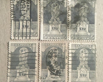 1926 Ericsson Memmorial 6 Used Stamps