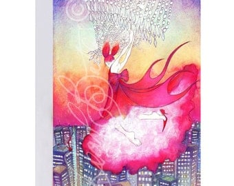 Art greeting card 'A Chandelier I Can Swing From'
