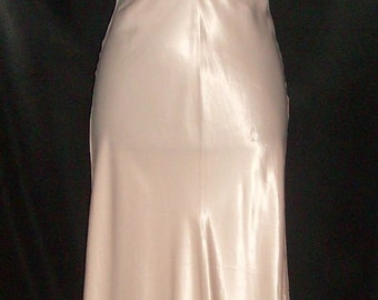 Heavenly Vintage Pink Rayon Satin Artemis Nightgown 34