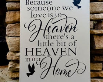 loss of a loved one, personalized, hand painted, wood sign, in loving memory, loss of child, memorial gift, sympathy gift, in memory of