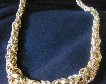 Vintage Byzantine styleNecklace-Gold Tone Metal