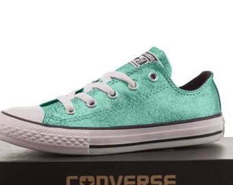 Converse shoes converse mint glitter wedding converse low top high top mint converse bridal converse custom shoes bride shoes all stars