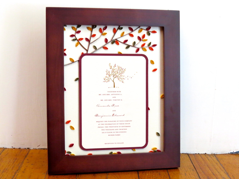 Unique Wedding Gifts Couple : Unique Wedding Gift For Couple Custom Wedding Invitation