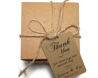 Wedding Thank You Tags -Personalized Wedding Favor Tags-set of 50