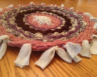 Handwoven Yarn-Fabric Rug