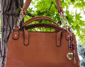 Golden crown purse charm