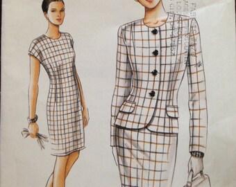 Vogue 9411 - Very Easy Jacket and Sheath Dress Set - Size 6 8 10