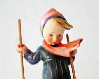 Goebel Hummel Figurine - Hummel 59 - TMK 3 - Skier - 6 inch - Goebel Figurine - Boy Hummel Collectible Figurine - Trademark 3