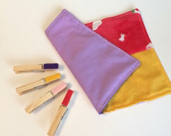 Cloth Colour Matching Game  with Clothespins Montessori Inspired