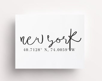 NYC Coordinates, New York City Coordinates, NYC Prints, New York City Prints, New York City Map, New York City Girl, City Location Posters