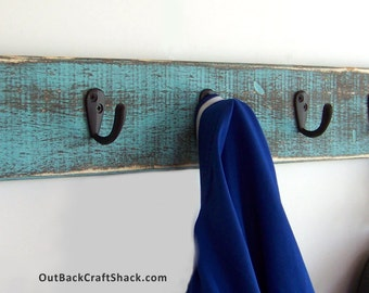 Coat Rack, Coat Hooks, Coat Hanger, Hat Rack, Wall Mounted Coat Rack, Wooden Coat Rack, Rustic Decor, Farmhouse Decor, Custom orders welcome