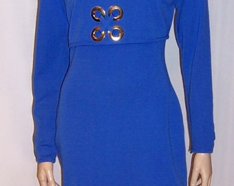 Andrea Jovine Chic and Timeless Electric Blue Dress