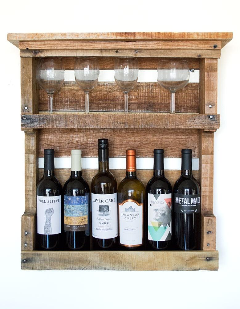 pallet wine rack pallet furniture rustic wine rack wood. Black Bedroom Furniture Sets. Home Design Ideas