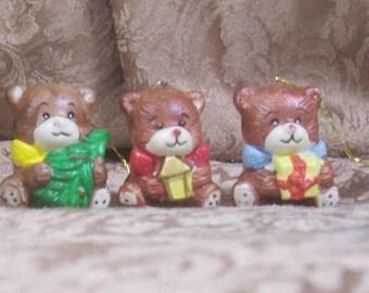 Vintage Bear Ornaments