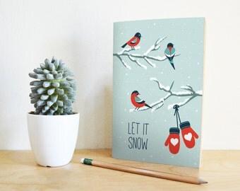 Printable Christmas Card | Merry Christmas | Atypical Christmas Card | Snow Card | Printable Greeting Card | Christmas card printable | DIY