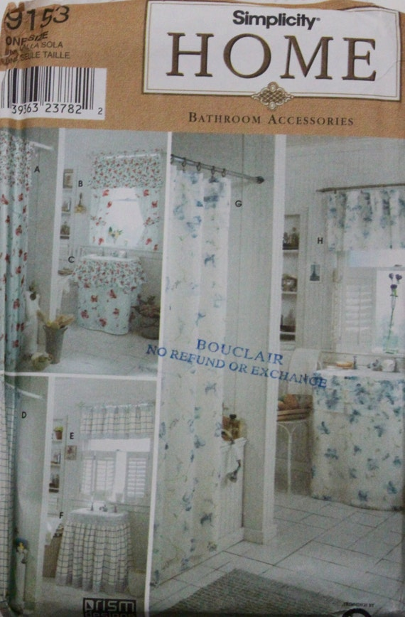 Vintage 2000 Uncut 22 Piece Bathroom Sewing Patterns