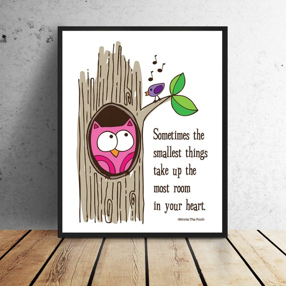 Winnie The Pooh Owl Quotes: Winnie The Pooh Quote Owl Print Instant Download 8 X 10