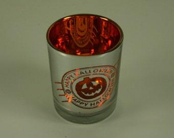 """2"""" ORANGE Halloween PUMPKIN Votive Candle Holder"""
