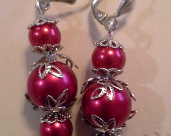 Triple Red Berry Earrings E - 2011