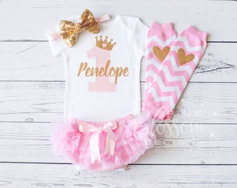 First Birthday Outfit Girl, 1st Birthday Outfit, First Birthday Onesie, Tutu Bloomer, Personalized Girls Birthday Outfit, 2nd Birthday