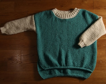 Hand knitted woolen sweater