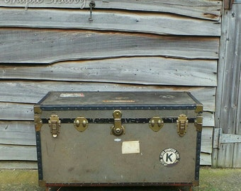 Steampunk Industrial Chic Trunk - Coffee Table or Blanket Box