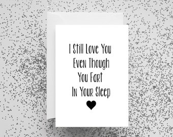 Card, Funny, Valentines Card, Funny Card, Greetings Card, Humour, I Love You, Birthday, Just Because, Girlfriend, Boyfriend