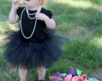 Black tutu - Double layer tutu - Baby tutu, Toddler tutu, Girls tutu - Birthday tutu - Photo prop - Halloween Tutu - Audrey Hepburn costume
