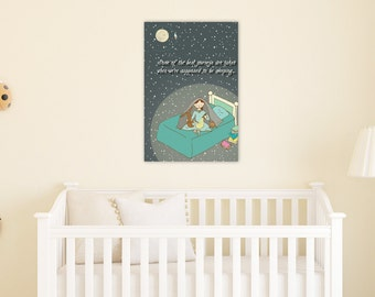 Reading Poster 12 x 18, Kids Reading Print
