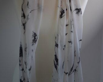 Scarf foulard marble