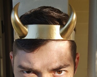 Golden Horned God or Goddess Circlet