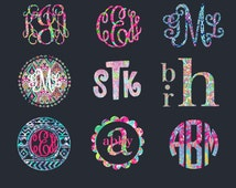 Popular Items For Monogram Car Decal On Etsy