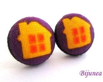 Home earrings - Homestud earrings - Home posts - Home post earrings sf1063