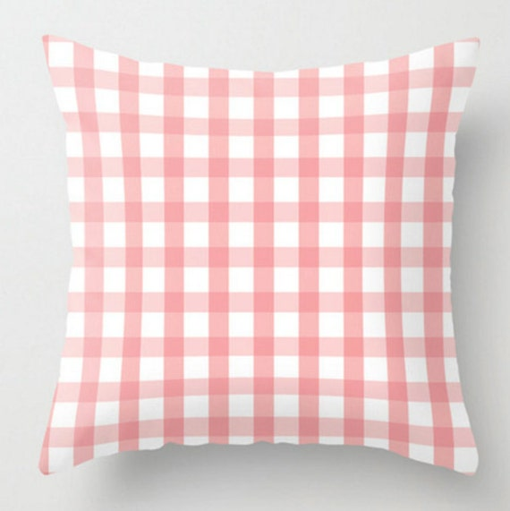 Decorative Plaid Pillows : Pink Plaid Pillow and Insert Decorative Pillow Throw Pillow
