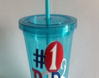 Father's double insulated tumbler.  Free shipping