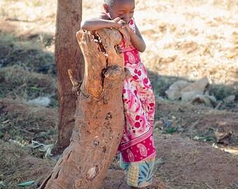 Little Girl in Rural Tanzania. Portrait