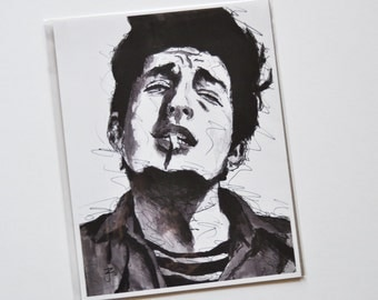Bob Dylan portrait - 8 x 10 art print  - singer-songwriter -huricane - folk - blues - the times they are a-changin'- like a rolling stone