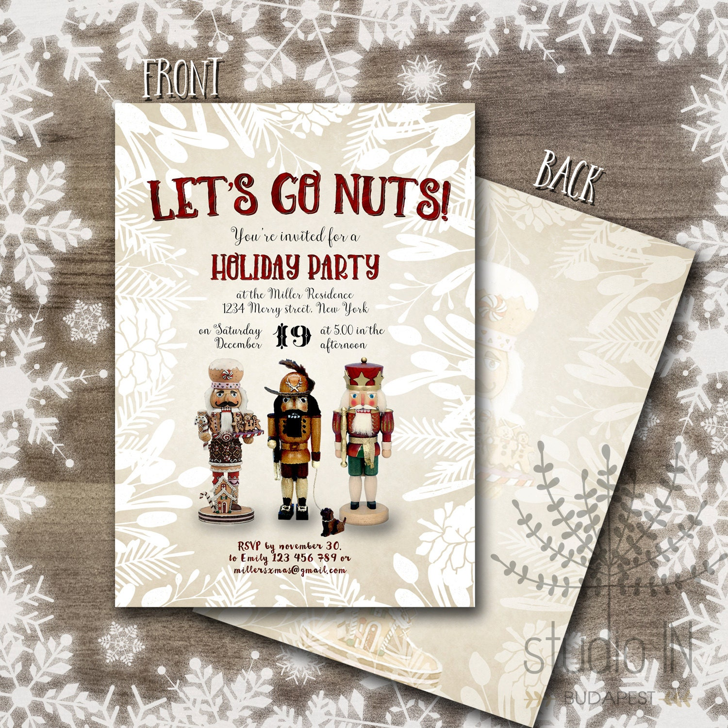 Printable Christmas Invitations Christmas party Invitations