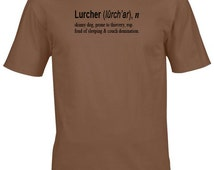 Lurcher tshirt- dog clothing, lurcher gifts, dog shirt, gifts for dog lovers, dogs, funny tee shirts, uk sellers only, t shirts for men