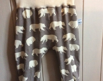Harem pants children's babies handmade organic fashion supersoft comfy