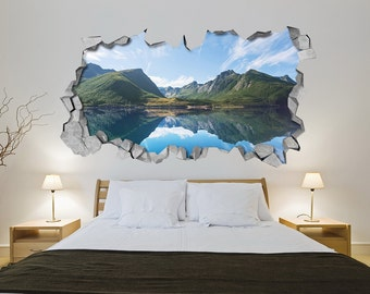 Awesome Charmant Lake Mountains 3d Wall Art Wall Sticker Wall Decal 3d Wallpaper