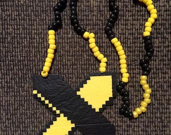 Excision Perler Bead Kandi Rave Festival EDM Necklace