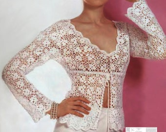 Sexy crochet blouse PATTERN, boho crochet tunic PATTERN pdf, CHARTS and basic instructions in English, charts are not interpreted in words.