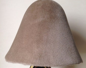 Velour Finish Fur Felt Hood - Sand color
