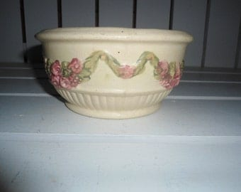 Vintage Weller, Roma, Embossed Pottery, Cottage Chic, French Country, Gift For Her, Shabby Chic, Victorian, Art Deco Pottery, Pottery bowl
