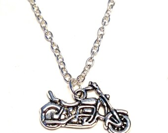 Motorcycle necklace, Harley Davidson Charm, Harley Davidson Pendant, Harley Davidson Jewelry,Harley Davidson Gifts, Harley Davidson Necklace