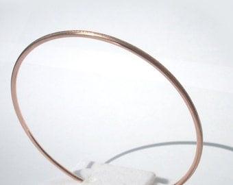 Rose gold Bangle Bracelet, Solid gold bracelet, 14K solid rose gold bangle bracelet, 14k rose gold bracelet, Solid gold bangle
