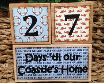 Countdown. Military Countdown Blocks. Deployment Countdown. Coast Guard. Days until Daddy's Home. Countdown Blocks.