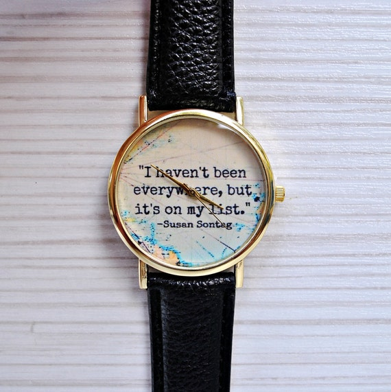 Gift For Women Travel Gift Gift For Men Quote Book Watch